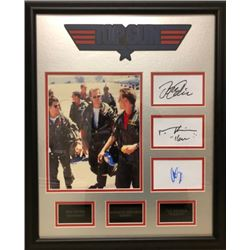 Framed Top Gun Feature Cast Signatures Cuts and Pictures