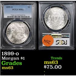 PCGS 1899-o Morgan Dollar $1 Graded ms63 By PCGS
