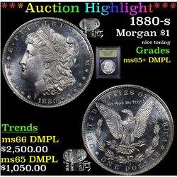 ***Auction Highlight*** 1880-s Morgan Dollar $1 Graded GEM+ DMPL By USCG (fc)