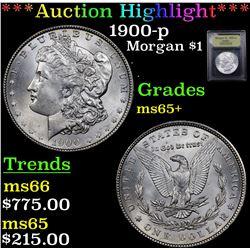 ***Auction Highlight*** 1900-p Morgan Dollar $1 Graded GEM+ Unc By USCG (fc)