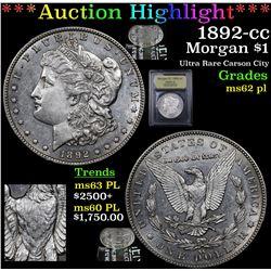 ***Auction Highlight*** 1892-cc Morgan Dollar $1 Graded Select Unc PL By USCG (fc)