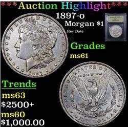 ***Auction Highlight*** 1897-o Morgan Dollar $1 Graded BU+ By USCG (fc)