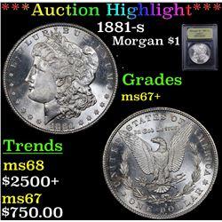 ***Auction Highlight*** 1881-s Morgan Dollar $1 Graded Gem++ Unc By USCG (fc)
