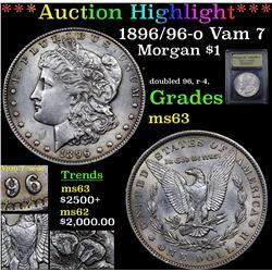 ***Auction Highlight*** 1896/96-o Vam 7 Morgan Dollar $1 Graded Select Unc By USCG (fc)