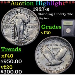 ***Auction Highlight*** 1927-s Standing Liberty Quarter 25c Graded vf++ By USCG (fc)