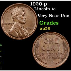 1920-p Lincoln Cent 1c Grades Choice AU/BU Slider