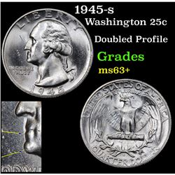 1945-s Washington Quarter 25c Grades Select+ Unc