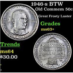 1946-s BTW Old Commem Half Dollar 50c Grades Select+ Unc