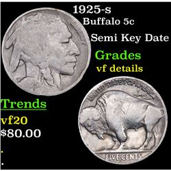 1925-s Buffalo Nickel 5c Grades vf details