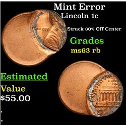 Mint Error Lincoln Cent 1c Grades Select Unc RB