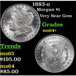 1883-o Morgan Dollar $1 Grades Choice+ Unc
