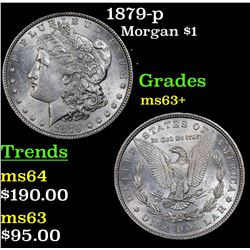 1879-p Morgan Dollar $1 Grades Select+ Unc