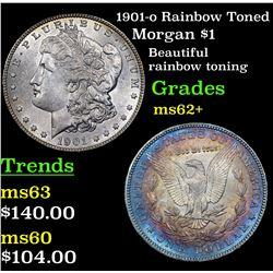 1901-o Rainbow Toned Morgan Dollar $1 Grades Select Unc