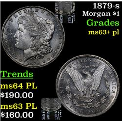 1879-s Morgan Dollar $1 Grades Select Unc+ PL