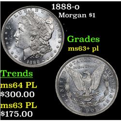 1888-o Morgan Dollar $1 Grades Select Unc+ PL