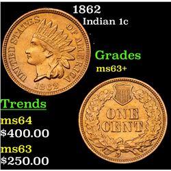 1862 Indian Cent 1c Grades Select+ Unc