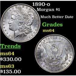 1890-o Morgan Dollar $1 Grades Choice Unc