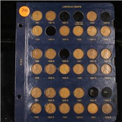 Near Complete Lincoln cent page 1921-1934 29 coins