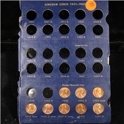 Starter Lincoln cent page 1959-1961 8 coins