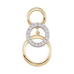 Diamond Cascading Triple Circle Pendant 1/6 Cttw 10kt Yellow Gold