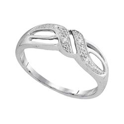 Diamond Band Ring .02 Cttw 10kt White Gold