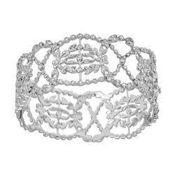 1.21 CTW Diamond Bangle 18K White Gold - REF-415K3W