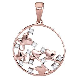 Diamond Circle Pendant 1/10 Cttw 14kt Rose Gold