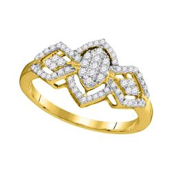 Diamond Oval Cluster Ring 1/3 Cttw 10kt Yellow Gold