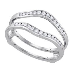 Diamond Wedding Bridal Enhancer Band Wrap 1.00 Cttw 14k White Gold