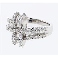 1.29 CTW Diamond Ring 18K White Gold - REF-134K5W