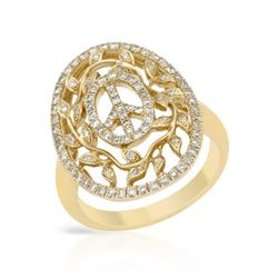 0.64 CTW Diamond Ring 14K Yellow Gold - REF-66M3F