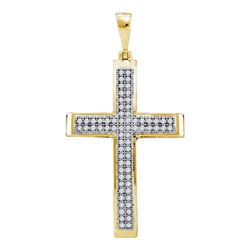 Diamond Medium Cross Pendant 1/5 Cttw 10kt Yellow Gold