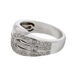 0.43 CTW Diamond Ring 14K White Gold - REF-57K8W