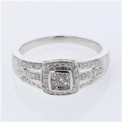 0.15 CTW Diamond Ring 14K White Gold - REF-30N2Y
