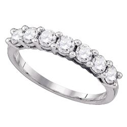 Diamond Wedding Band Ring 1.00 Cttw 10kt White Gold