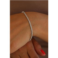 Natural 2.0 ctw Diamond Eternity Tennis Bracelet 18K White Gold - REF-159R2K