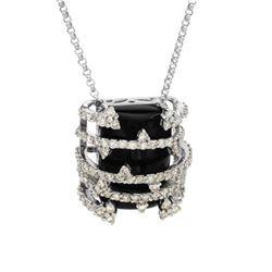 16.2 CTW Diamond Necklace 14K White Gold - REF-103M2F