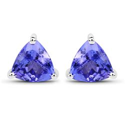 0.86 ctw Tanzanite Earrings 14K White Gold - REF-23R2K