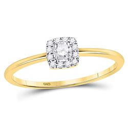 Diamond Solitaire Stackable Band Ring 1/5 Cttw 10kt Yellow Gold