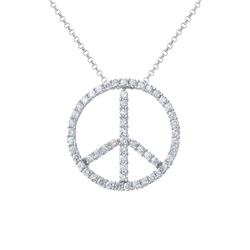 1.47 CTW Diamond Necklace 14K White Gold - REF-101M6F