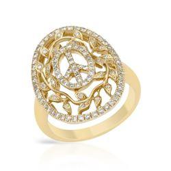0.64 CTW Diamond Ring 14K Yellow Gold - REF-66M3F