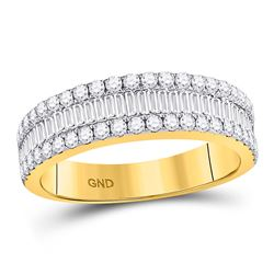 Baguette Diamond Fashion Anniversary Ring 7/8 Cttw 14kt Yellow Gold