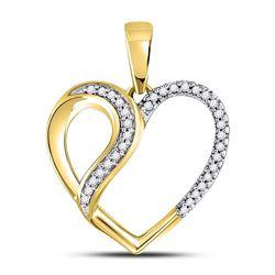Diamond Heart Fashion Pendant 1/10 Cttw 10kt Yellow Gold