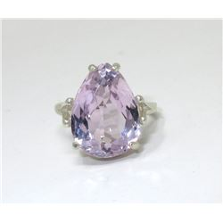 8.9 CT Natural Kunzite Solitaire Ring