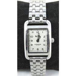 Genuine Ladies Designer Silver Tone Coach Watch