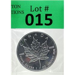 1 Oz .9999 Fine Silver 2010 Canada Maple Leaf Coin