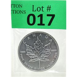 1 Oz .9999 Fine Silver 2012 Canada Maple Leaf Coin
