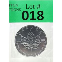 1 Oz .9999 Fine Silver 2013 Canada Maple Leaf Coin