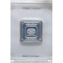 Two 20 Gram Geiger Edelmetalle .999 Silver Bars