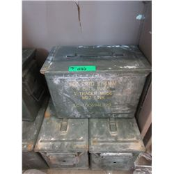 "3 Metal Ammo Boxes - Each is 7"" x 9"" x 12"""
